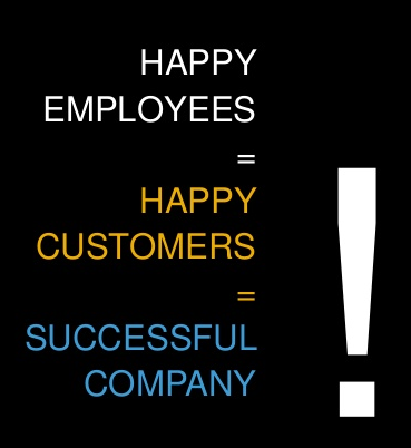 Happy Employees = Happy Customers = Successful Company (1/5)